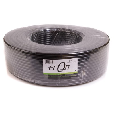 "Econ Coaxial Cable Dual Schilded RG-6 100m ""Black"" E-501"